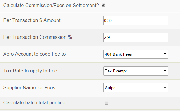 Calculate Commission/Fees on Settllement